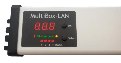 Profi-4er-Steckdosenleiste-LAN-Display-Steuerung
