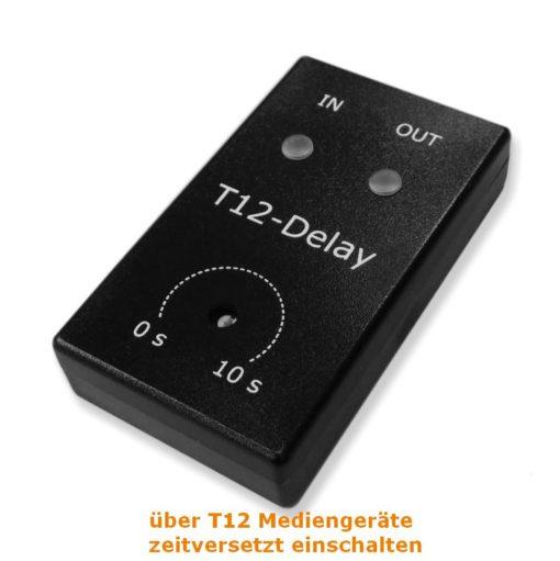 12V-Trigger Delay Mediengeräte zeitversetzt schalten